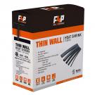 "F4P THIN WALL HEAT SHRINK TUBING - 1/2"" [BLACK]"
