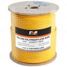 F4P 3/8'' Yellow Polypropylene Rope - 600FT Reel