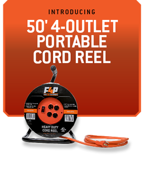 50FT 4-OUTLET PORTABLE CORD REEL